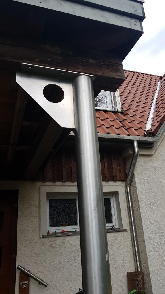 Balkonsäule & Dachrinne